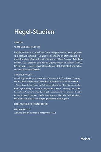 9783787314737: Hegel-Studien Band 9 (1974)