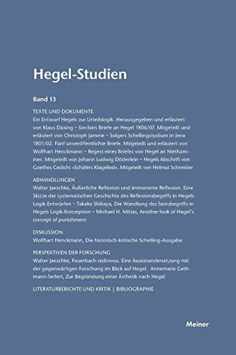 Hegel-Studien: Friedhelm Nicolin