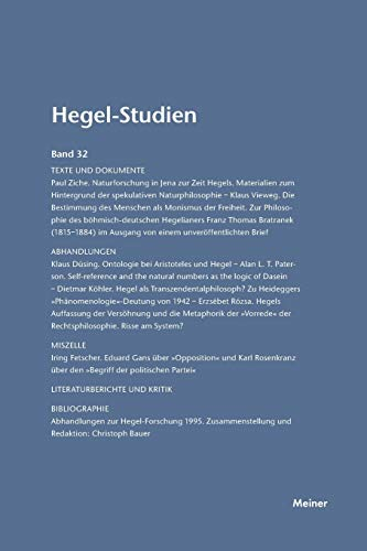 Hegel-Studien Band 32: Nicolin, Friedhelm