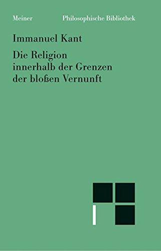 9783787316182: Die Religion innerhalb der Grenzen der bloáen Vernunft