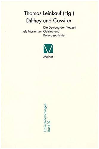 9783787316205: Dilthey und Cassirer.