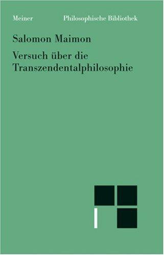 9783787316335: Versuch über die Transzendentalphilosophie