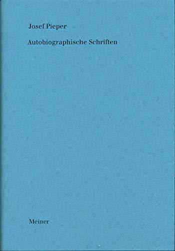 9783787316496: Werke / Autobiographische Schriften