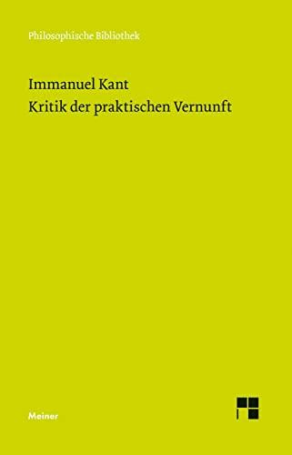 9783787316502: Kritik der praktischen Vernunft
