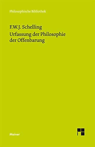 9783787316861: Urfassung der Philosophie der Offenbarung