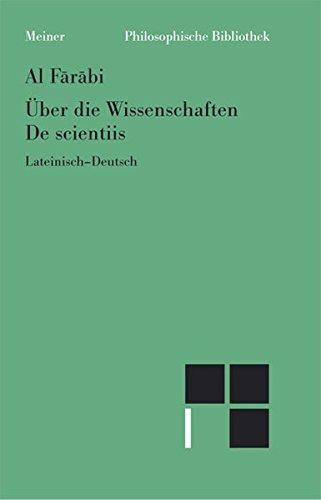 9783787317189: Über die Wissenschaften /De scientiis: Nach der lateinischen Übersetzung Gerhards von Cremon