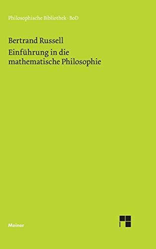 9783787318285: Einführung in die mathematische Philosophie