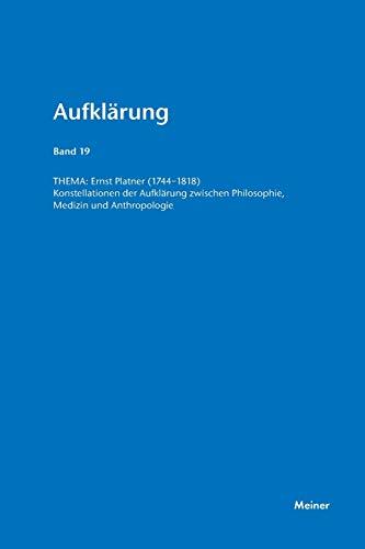 9783787319206: Ernst Platner (1744-1818)