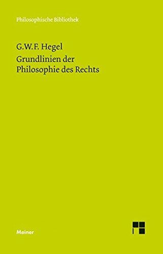 9783787322466: Grundlinien der Philosophie des Rechts