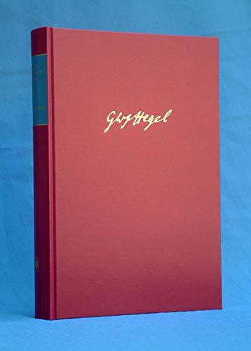 9783787326983: Hegel, G: Gesammelte Werke Band 28,1