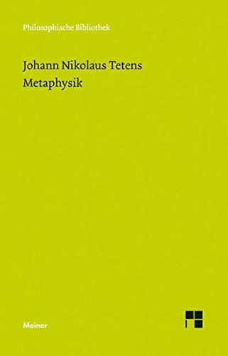 Metaphysik: Johann Nicolaus Tetens