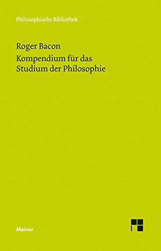 9783787328031: Kompendium f�r das Studium der Philosophie
