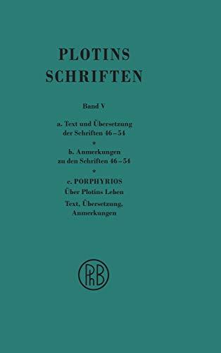 Plotins Schriften. Band V (German Edition): Plotin
