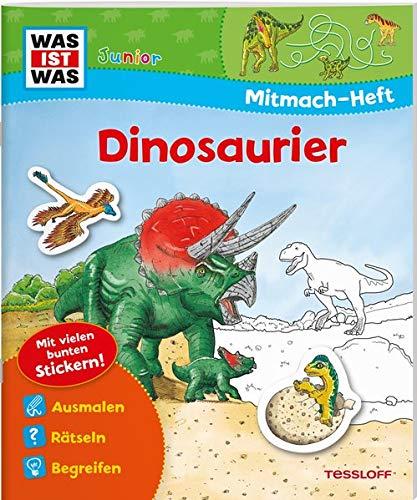 9783788619947: Mitmach-Heft Dinosaurier: Dino-Rätsel, Sticker, Ausmalseiten, Erstlesegeschichte