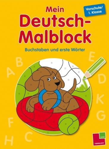 9783788624323: Mein Deutsch-Malblock. Vorschule/1. Klasse: Buchstaben und erste Wörter