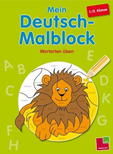 9783788624347: Mein Deutsch-Malblock. 1./2. Klasse: Wortarten üben