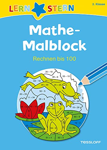 Mathe-Malblock. 2. Klasse. Rechnen bis 100