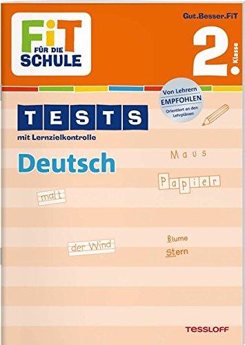 9783788626907: Fit für die Schule: Tests mit Lernzielkontrolle. Deutsch 2. Klasse
