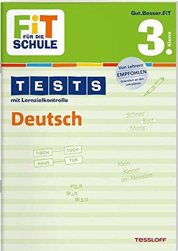 9783788626921: Fit für die Schule: Tests mit Lernzielkontrolle. Deutsch 3. Klasse