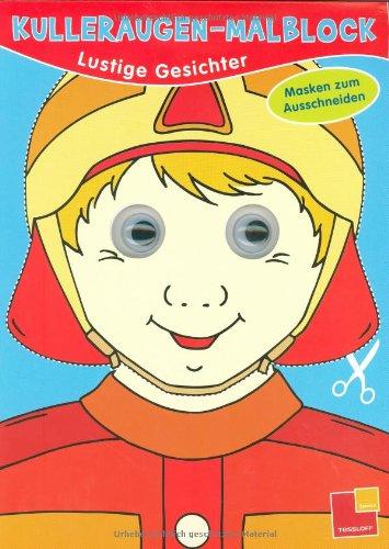 9783788633851: Kulleraugen-Malblock Lustige Gesichter: Masken zum Ausschneiden