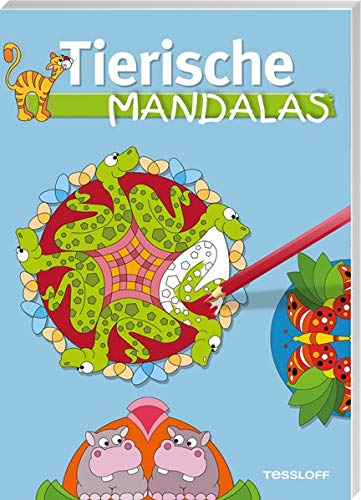 Tierische Mandalas (Malbücher und -blöcke) - Oli Poppins