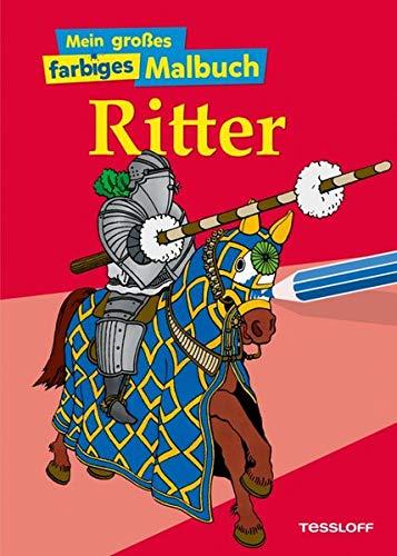 9783788638252: Mein großes farbiges Malbuch Ritter