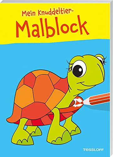 9783788638481: Mein Knuddeltier-Malblock gelb. Ab 4 Jahren