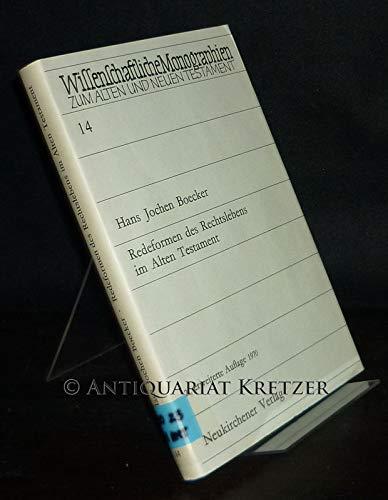 9783788700065: Redeformen des Rechtslebens im Alten Testament Wissenschaftliche Monographien zum Alten und Neuen Testament; Bd. 14