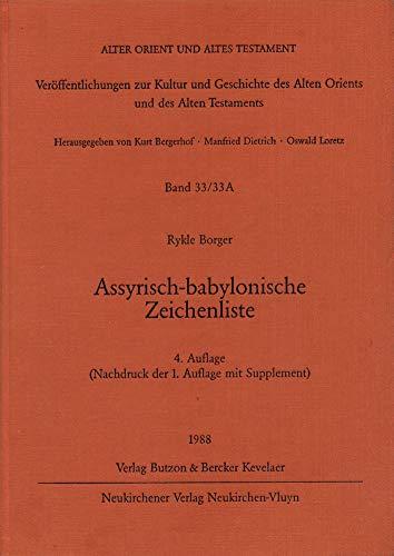 9783788706685: Assyrisch-babylonische Zeichenliste