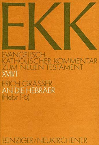An die Hebräer, EKK XVII/1: Erich Gräßer