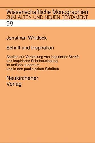 Schrift und Inspiration: Jonathan Whitlock