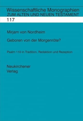 Geboren von der Morgenröte?: Miriam von Nordheim