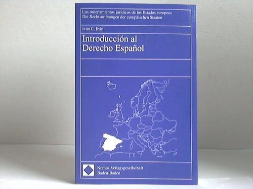 9783789034688: Introducción al Derecho Español