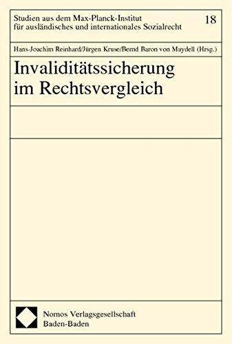 Invaliditätssicherung im Rechtsvergleich: Hans-Joachim Reinhard