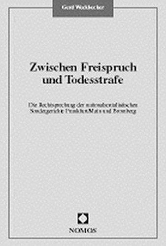 9783789051456: Zwischen Freispruch und Todesstrafe: Die Rechtsprechung der nationalsozialistischen Sondergerichte Frankfurt/Main und Bromberg