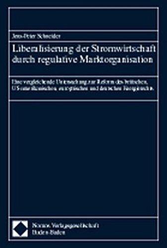 Liberalisierung der Stromwirtschaft durch regulative Marktorganisation: Jens-Peter Schneider
