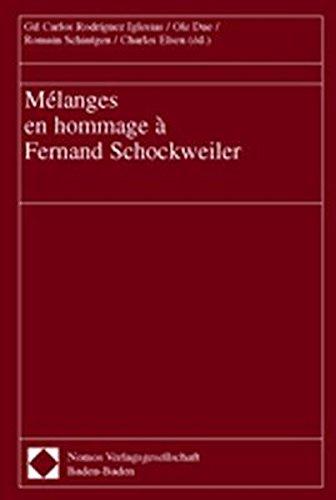 Mélanges en hommage à Fernand Schockweiler.: Schockweiler, Fernand.
