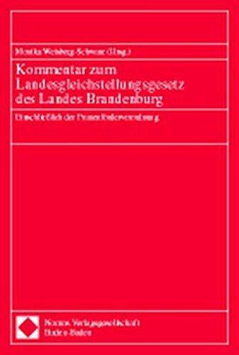 9783789061707: Kommentar zum Landesgleichstellungsgesetz des Landes Brandenburg: Einschliesslich der Frauenförderverordnung (German Edition)