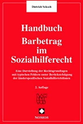 9783789062766: Handburch Barbetrag im Sozialhilferecht.