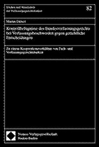 9783789064661: Kontrollbefugnisse des Bundesverfassungsgerichts bei Verfassungsbeschwerden gegen gerichtliche Entscheidungen