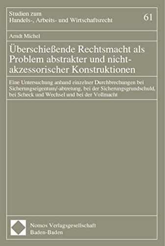 Überschießende Rechtsmacht als Problem abstrakter und nicht-akzessorischer ...