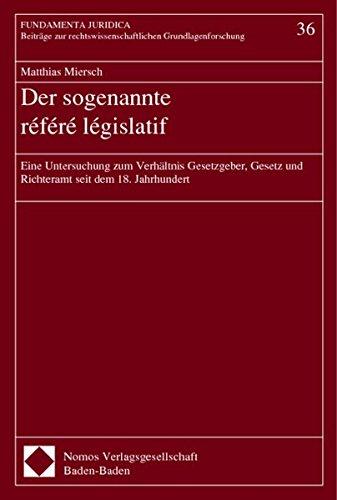 Der sogenannte référé législatif