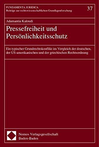 9783789069550: Pressefreiheit und Persönlichkeitsschutz
