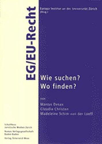 9783789071966: EG/ EU-Recht: Wie suchen? Wo finden?