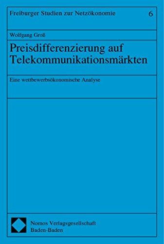 9783789072383: Preisdifferenzierung auf Telekommunikationsmärkten: Eine wettbewerbsökonomische Analyse