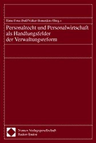9783789075414: Personalrecht und Personalwirtschaft als Handlungsfelder der Verwaltungsreform