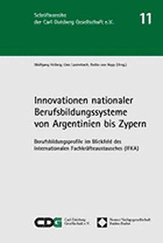 9783789075568: Innovationen nationaler Berufsbildungssysteme von Argentinien bis Zypern. Berufsbildungsprofile im Blickfeld des Internationalen Fachkraefteaustausches (IFKA)