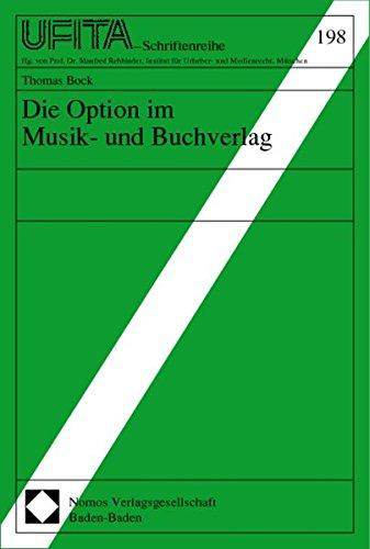 Die Option im Musik- und Buchverlag: Thomas Bock