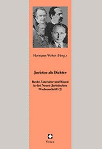 9783789077043: Juristen als Dichter - Dichter als Juristen (1). Recht, Literatur und Kunst in der Neuen Juristischen Wochenschrift (2)