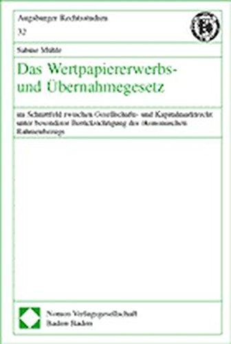 Das Wertpapiererwerbs- und Übernahmegesetz: Sabine Mühle